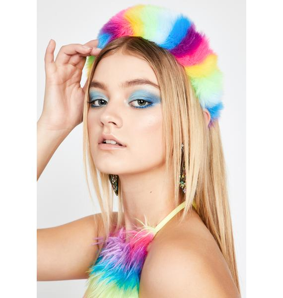 Sunshine N' Lollipops Fuzzy Headband