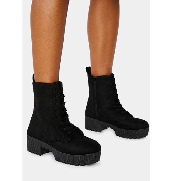 Onyx Victory Is Mine Combat Boots
