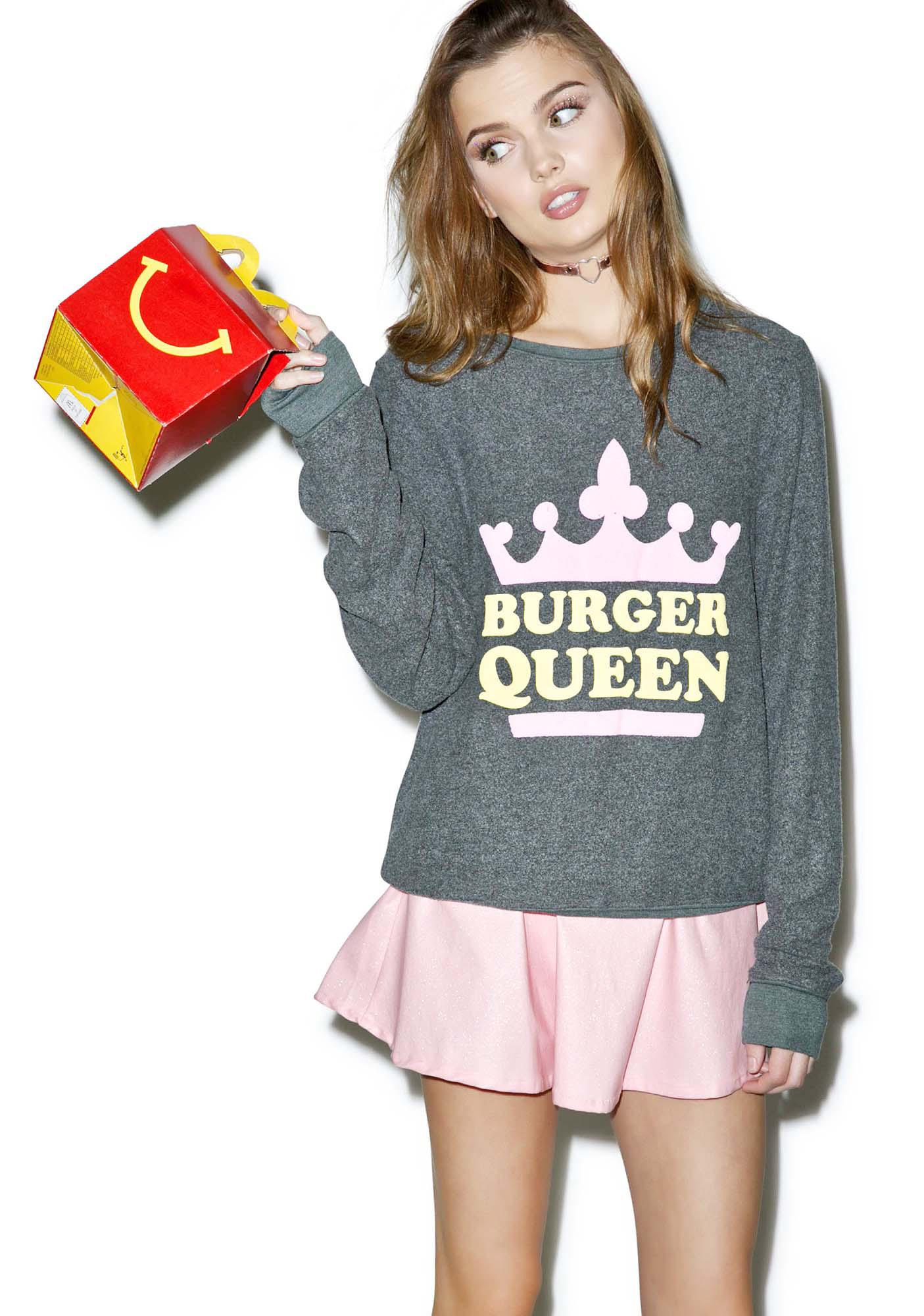 Wildfox Couture Burger Queen Baggy Beach Jumper