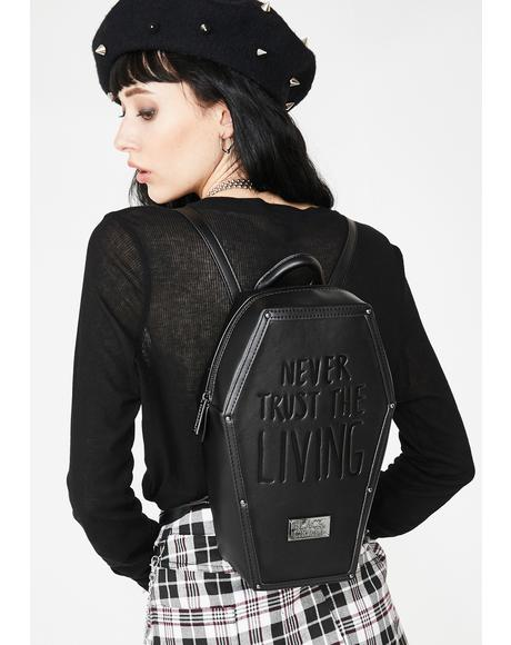 Never Trust Coffin Backpack