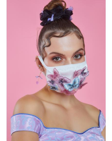 Meant To Fly Butterfly Face Mask