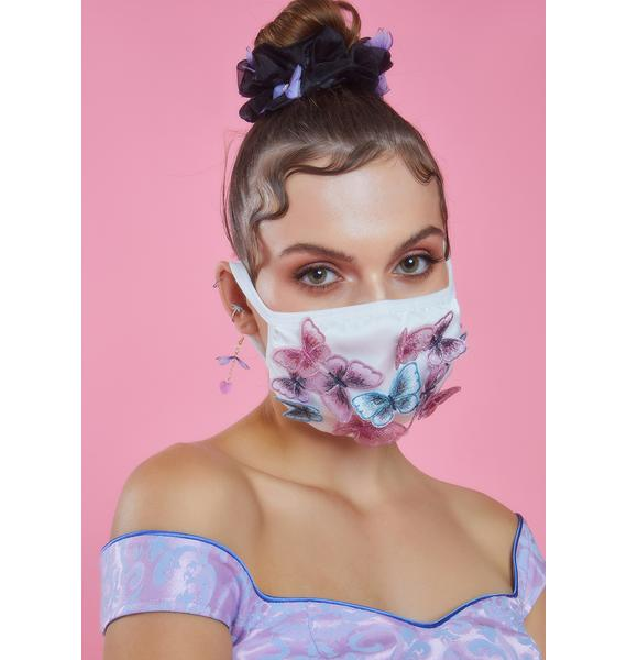 Sugar Thrillz Meant To Fly Butterfly Face Mask