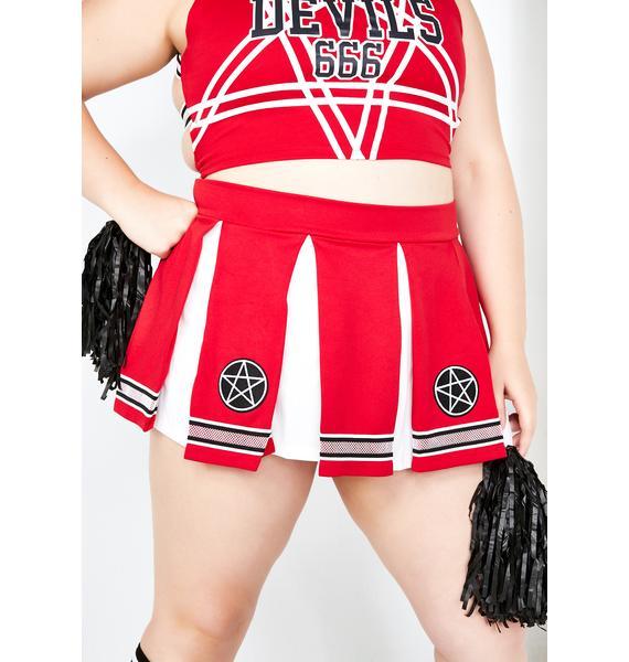 Dolls Kill Satan's Coven Cheerleader Costume Set