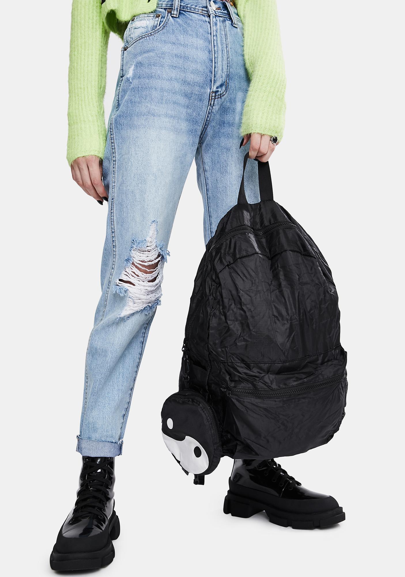 Yin Yang Foldable Backpack