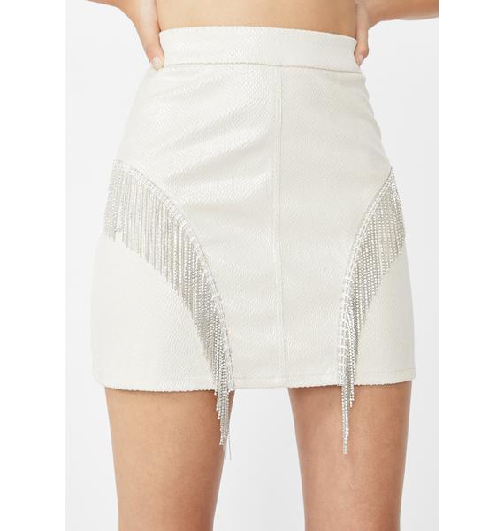 Elsie & Fred Cassie Rhinestone Fringe Skirt