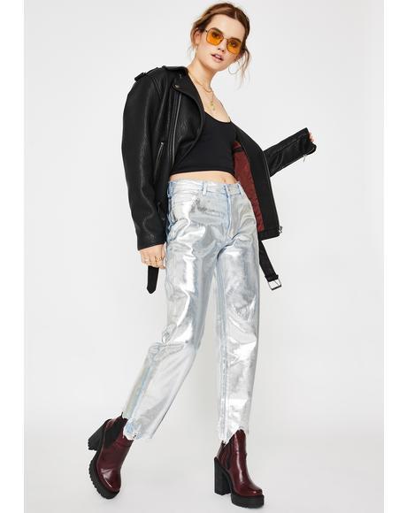 Maggie Foil Metallic Jeans