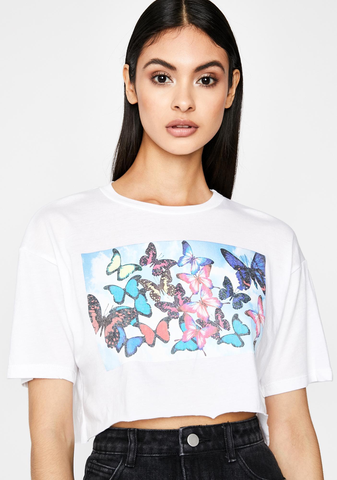 Blissful Butterflies Graphic Tee