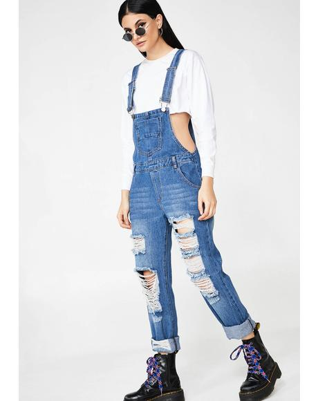 Out Of Focus Denim Overalls