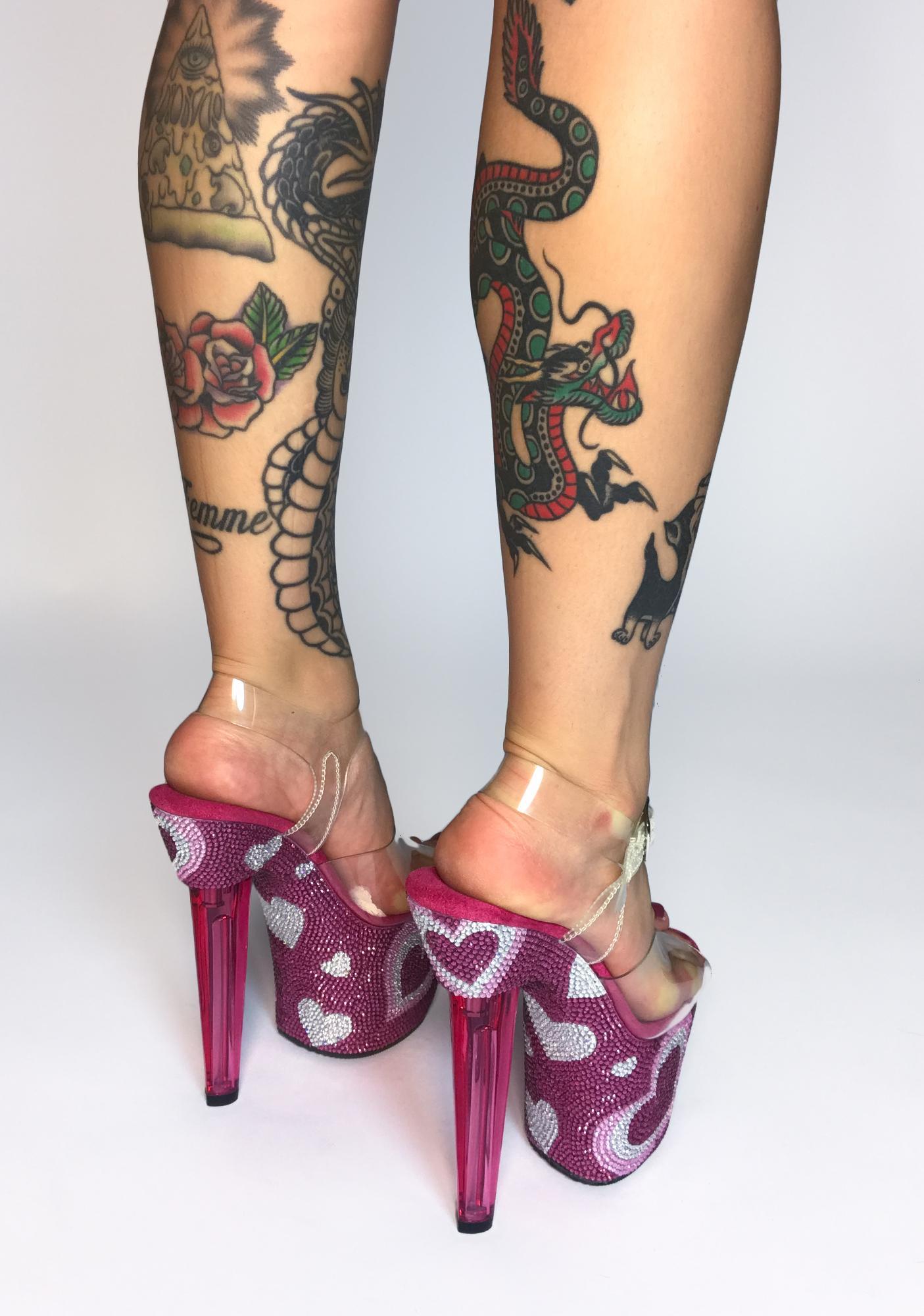 Pleaser Full Of Love Platform Heels