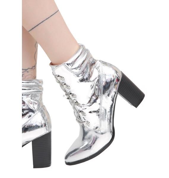 Metallic Maxed Out Lace-Up Boots