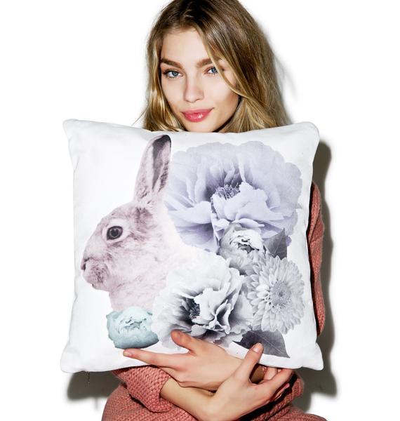Regal Rabbit Pastel Pillow