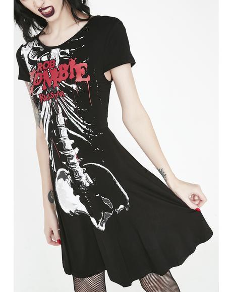Foxy Bones Skater Dress