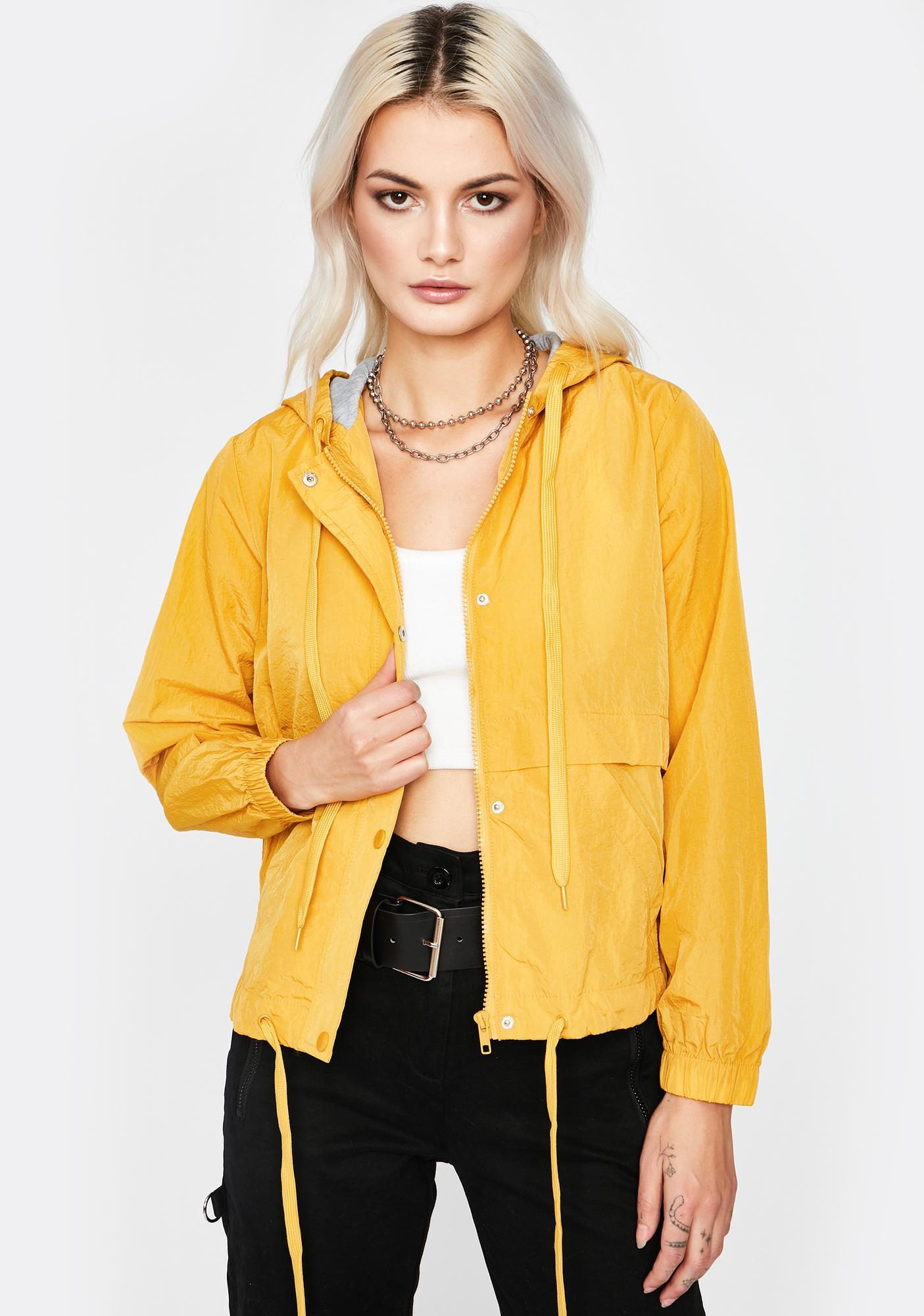 Honey Rain Or Shine Hooded Windbreaker