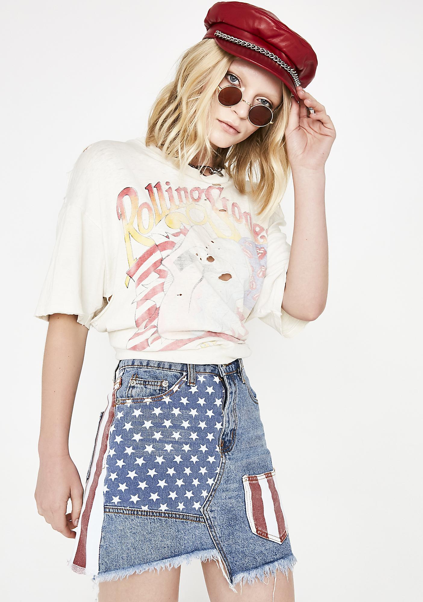 America The Beautiful Denim Skirt