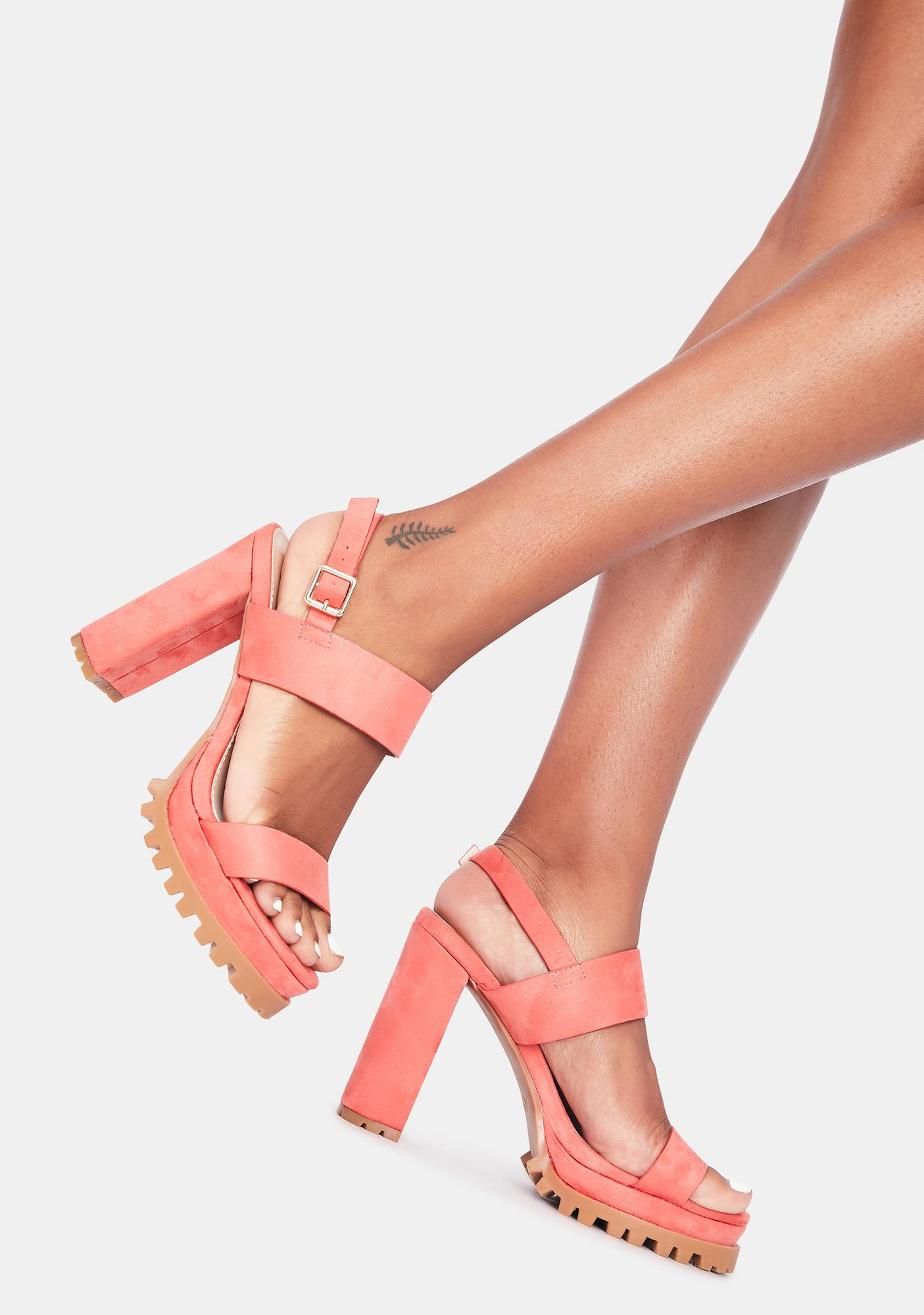 Baby Just Because Block Heels