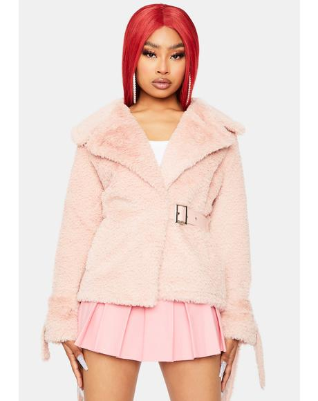 Blush Let's Begin Again Sherpa Jacket