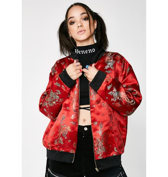 O Mighty Gong Li Bomber Jacket