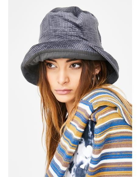 Moody Mornings Corduroy Bucket Hat