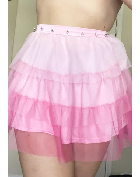 Divine Synth Spell Ruffle Skirt