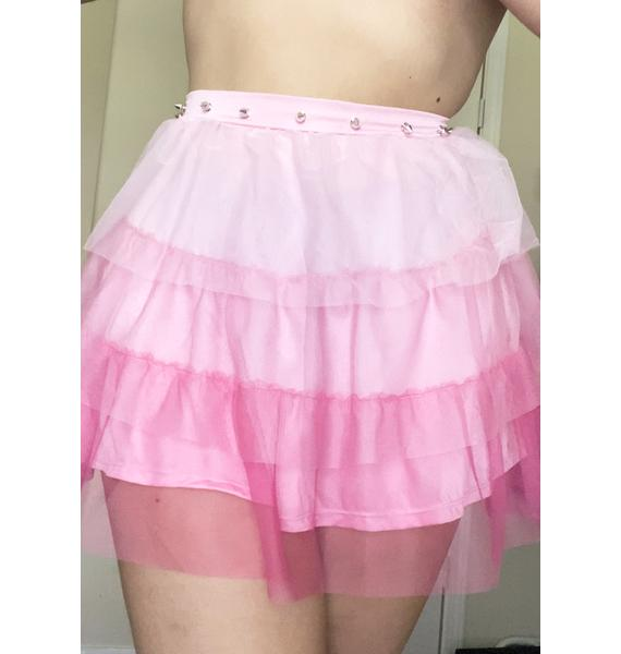 Sugar Thrillz Divine Synth Spell Ruffle Skirt
