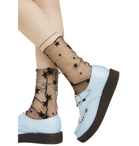 Star Light Sheer Socks