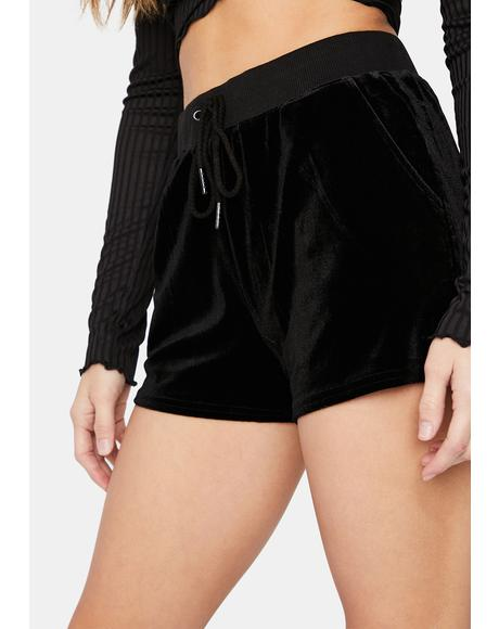 Without You Velour Lounge Shorts
