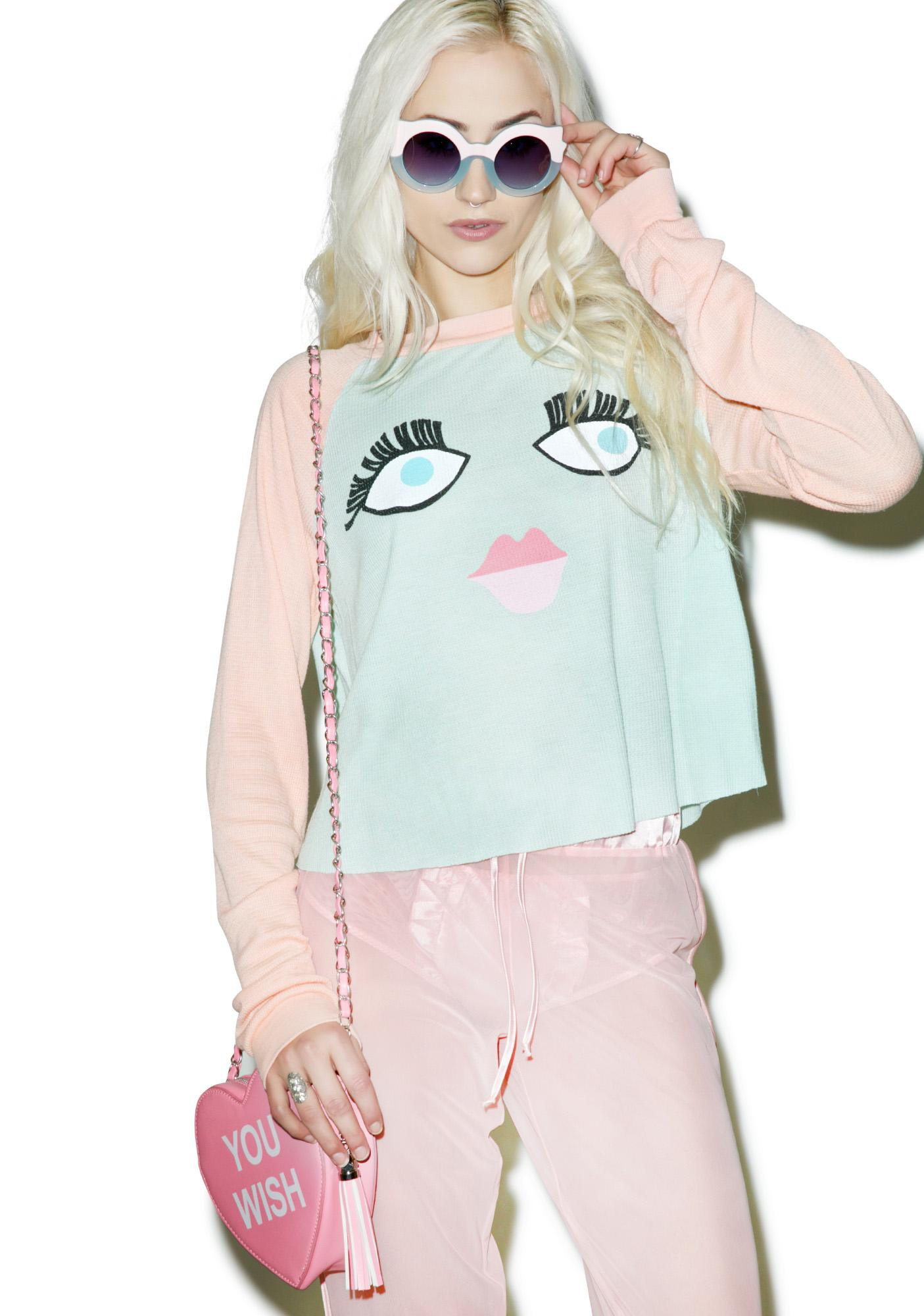 Wildfox Couture Bat them Lashes Luca Crop Thermal