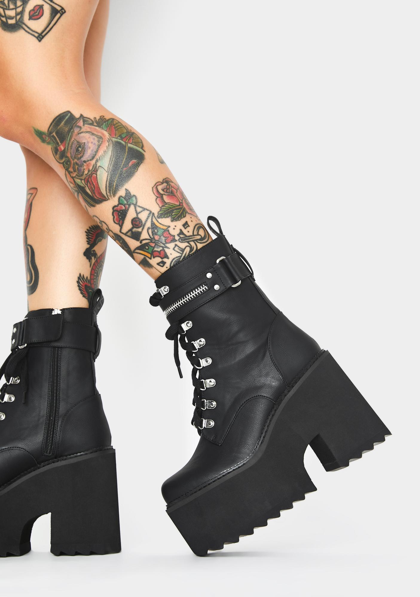 Killstar Overhead Platform Boots