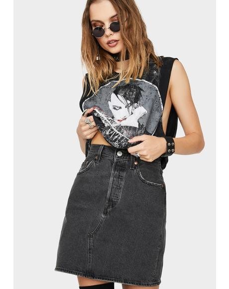 Iconic Deconstructed Denim Mini Skirt