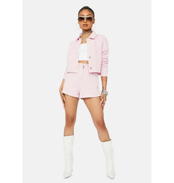 Buy Me Candy Cropped Denim Jacket