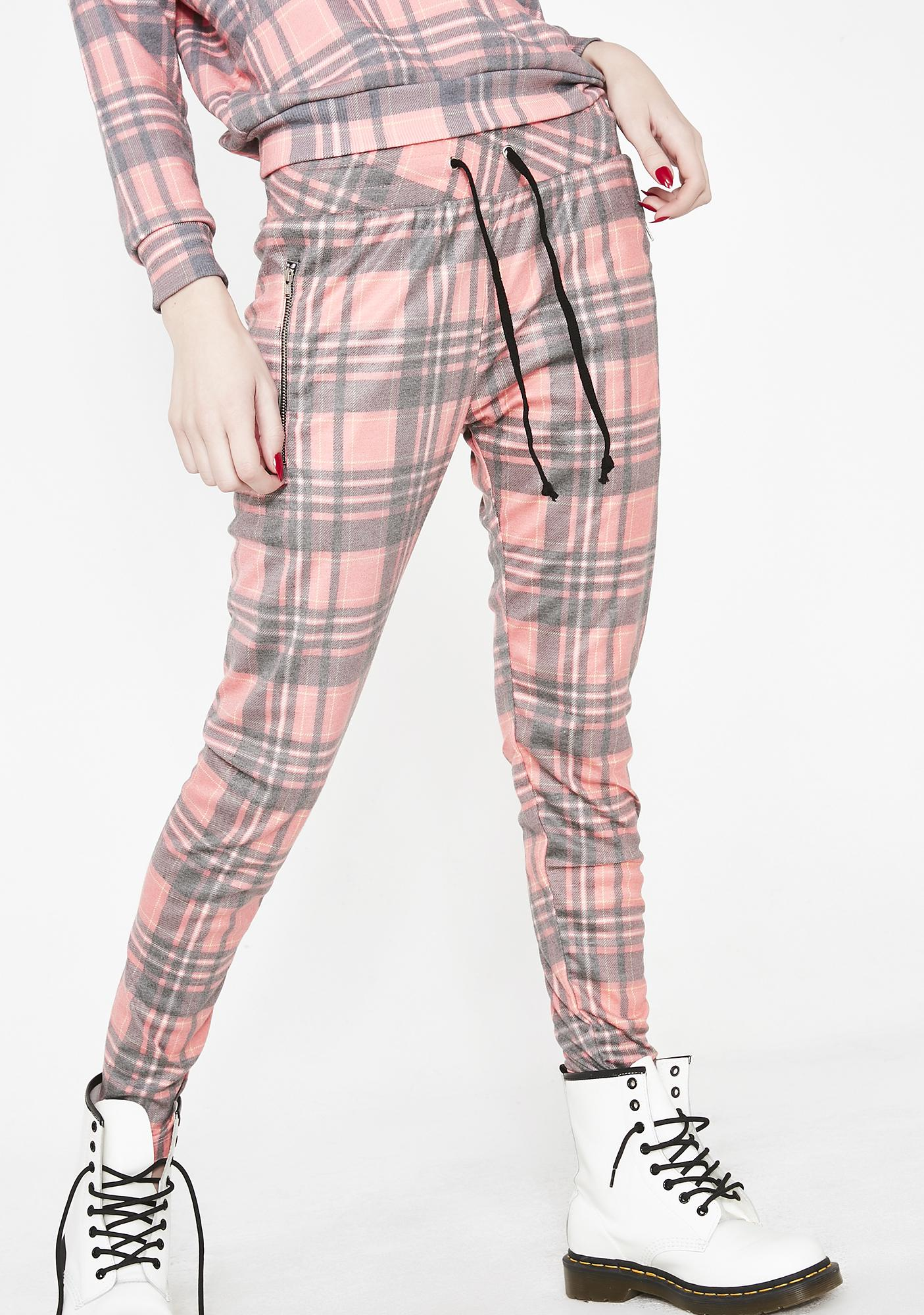 Wildfox Couture Sweetheart Plaid Demi Leggings