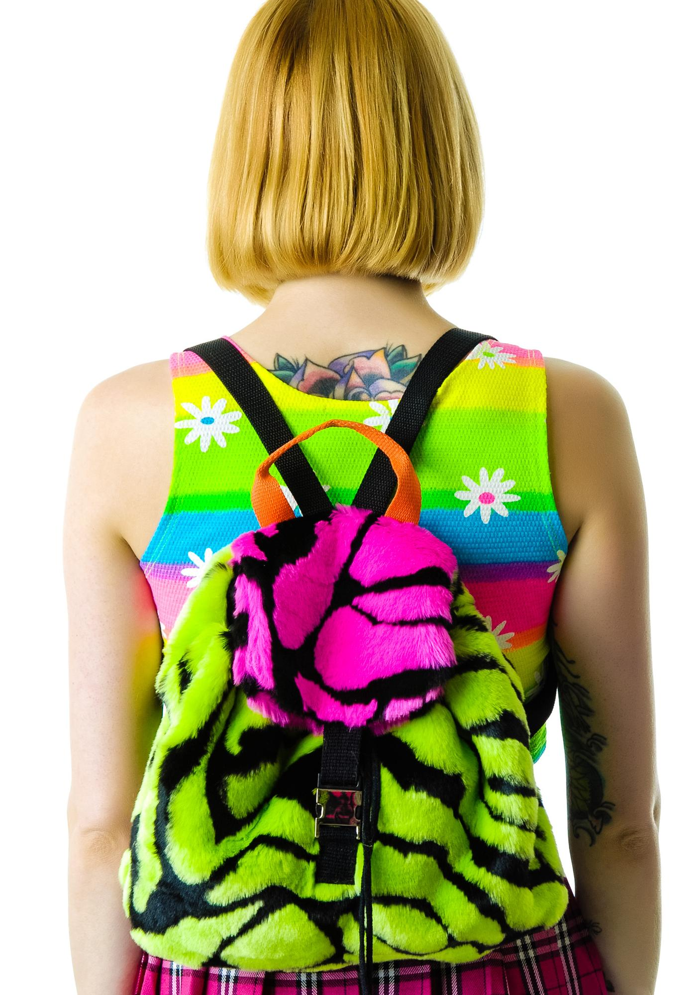 Dimepiece Fur Real Mini Backpack