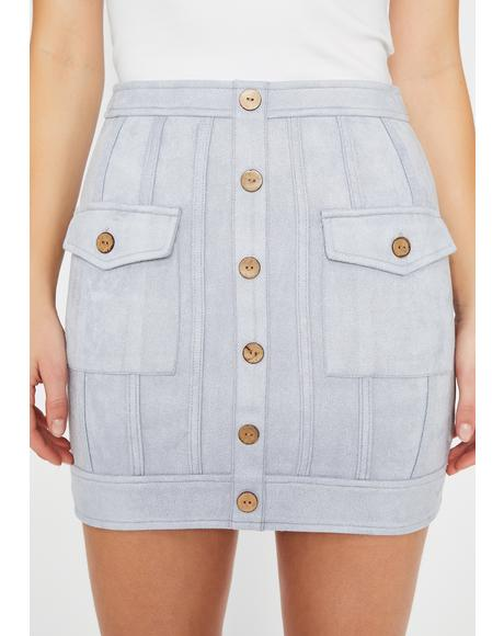 Top 2 Button Up Mini Skirt