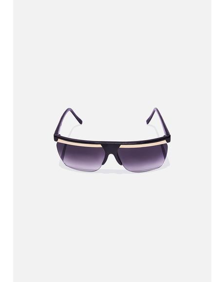 Gold Bar Shied Sunglasses