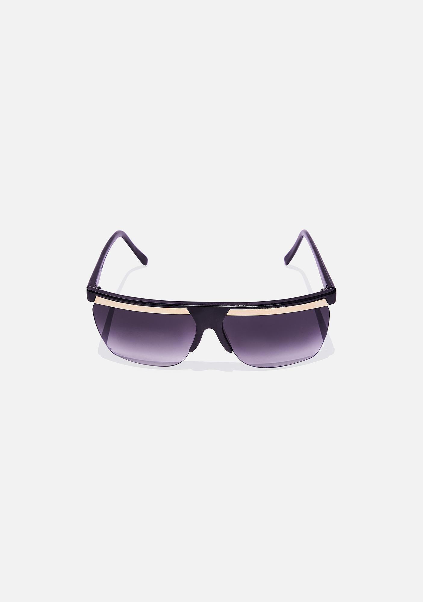 Good Times Eyewear Gold Bar Shied Sunglasses