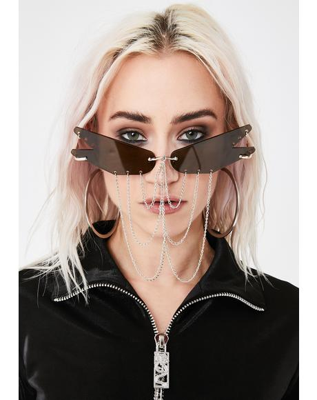 Social Web Chain Sunnies