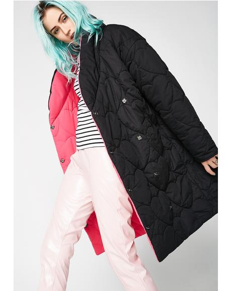 Love Blanket Reversible Puffer Coat