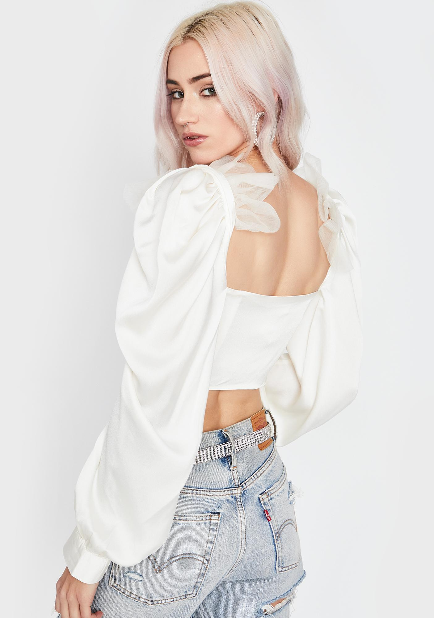 Champagne Fool For You Crop Top