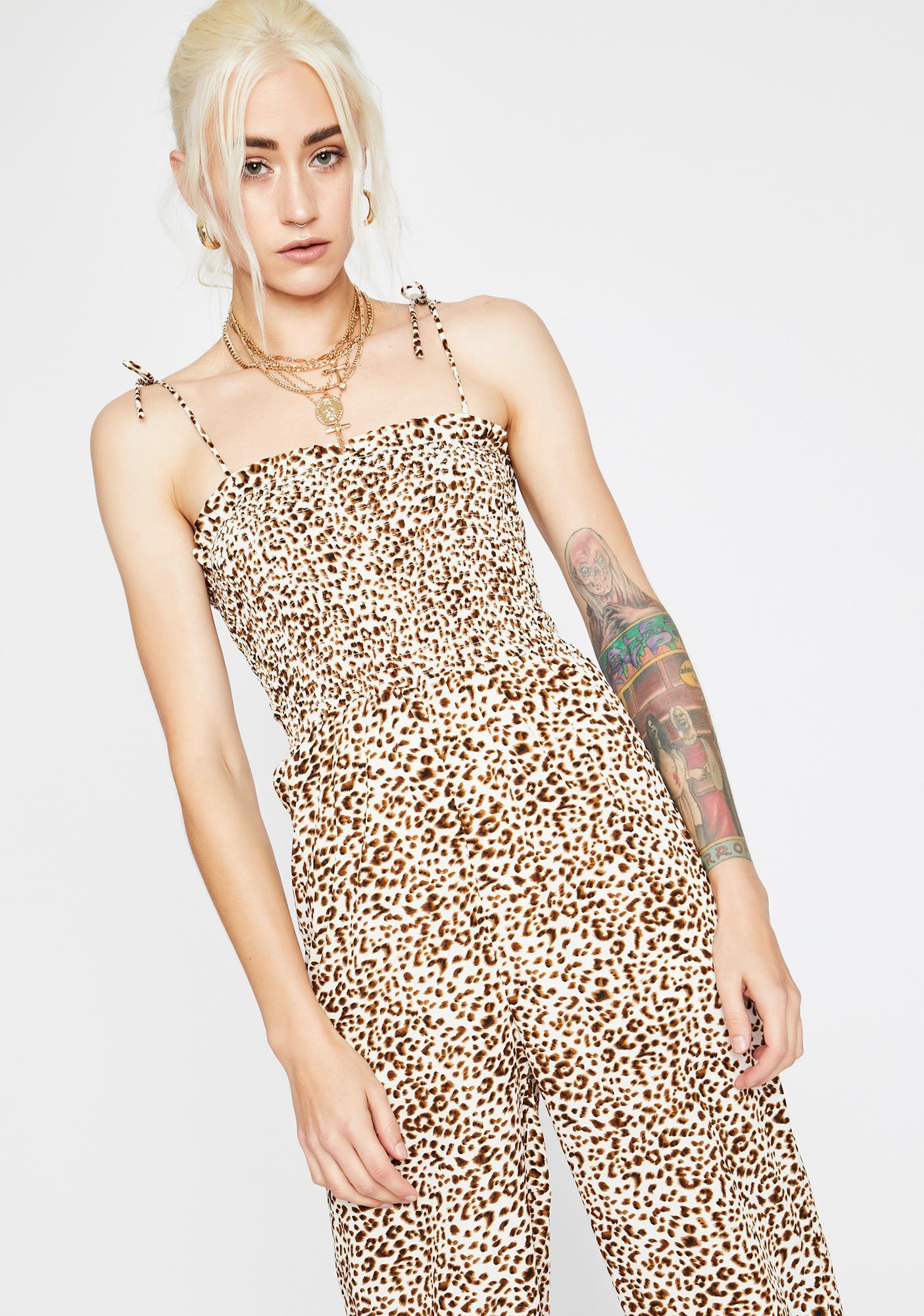 Kitten Club Leopard Jumpsuit