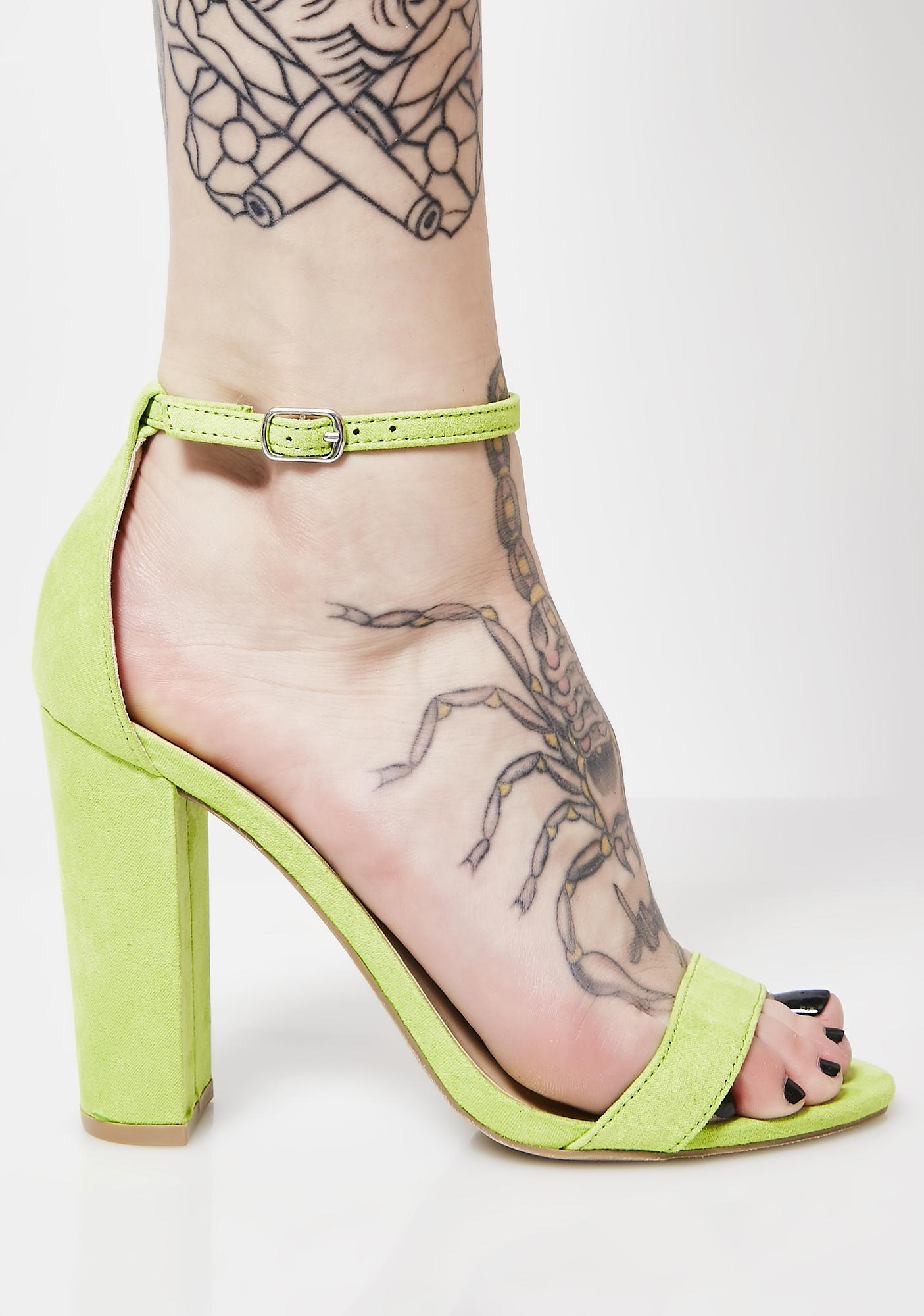 Slime Boo'd Up Ankle Strap Heels