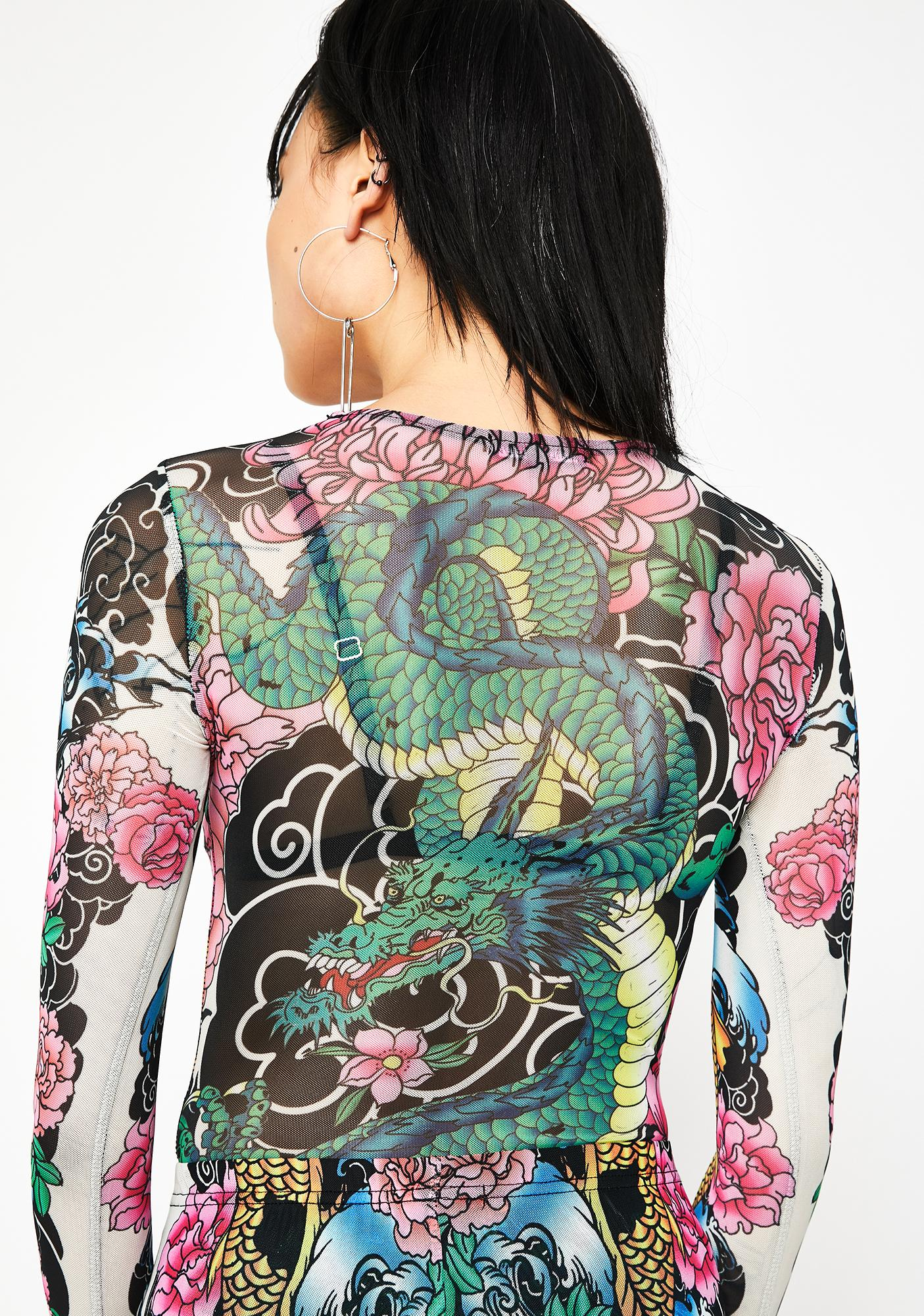 Current Mood Deadly Diva Tattoo Bodysuit