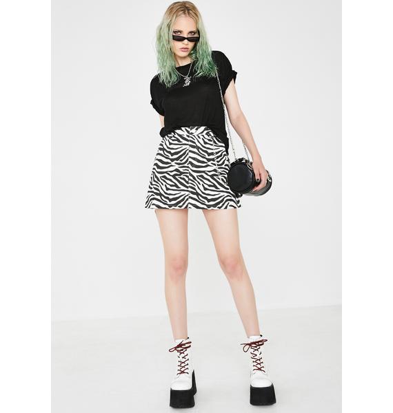 Current Mood Animal Rights Mini Skirt