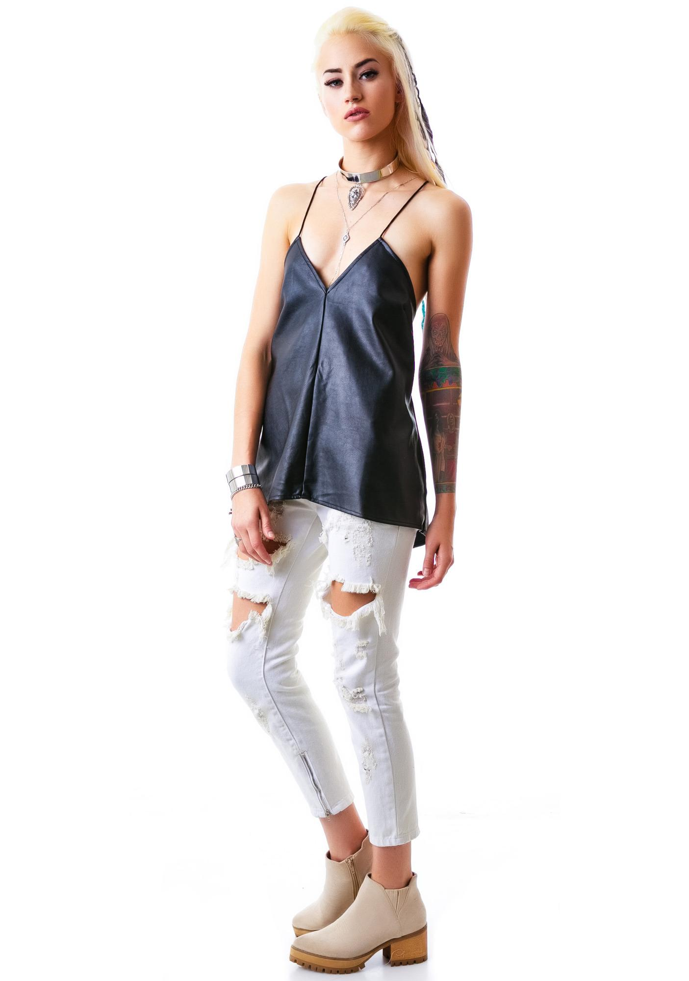 Shoe Off Lace Tank Top
