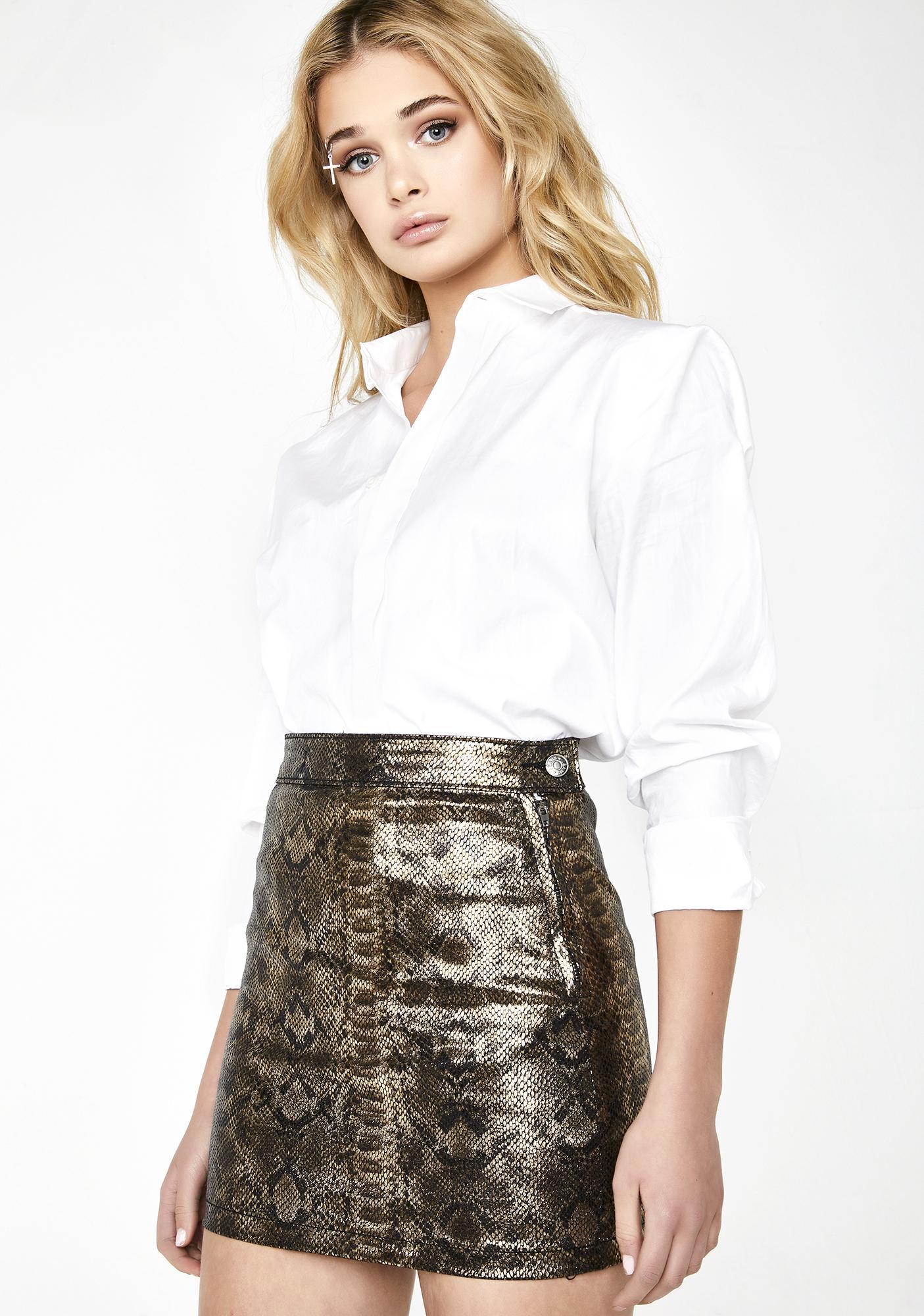 e2090e474234 Momokrom Gold Snake Skirt; Momokrom Gold Snake Skirt ...