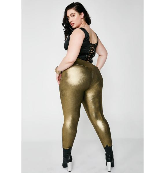 Poster Grl Gold Diggin' Foil Leggings