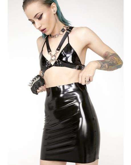 Wicked Princess Kink Vinyl Skirt