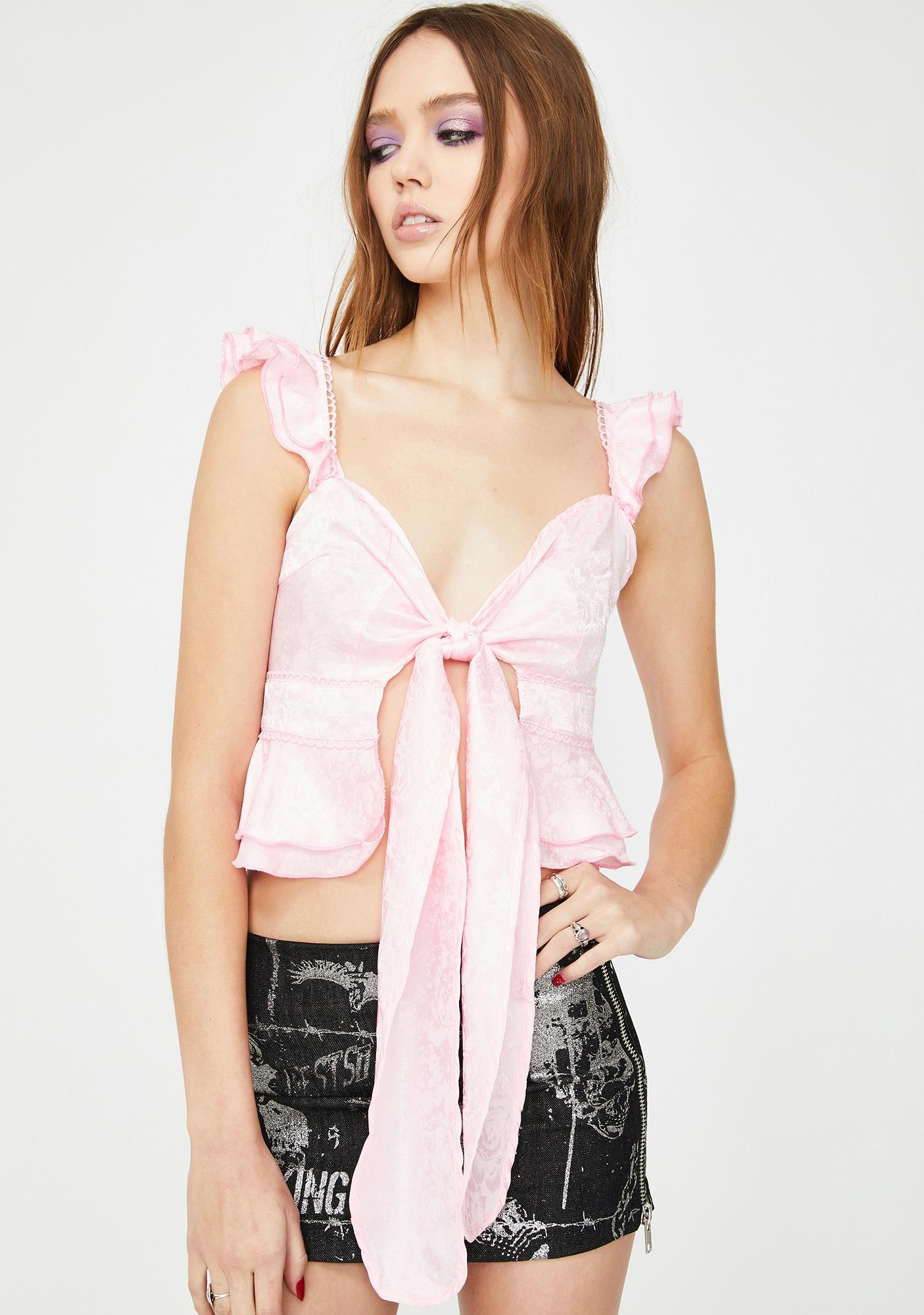 ZEMETA Renaissance Ribbon Silk Top