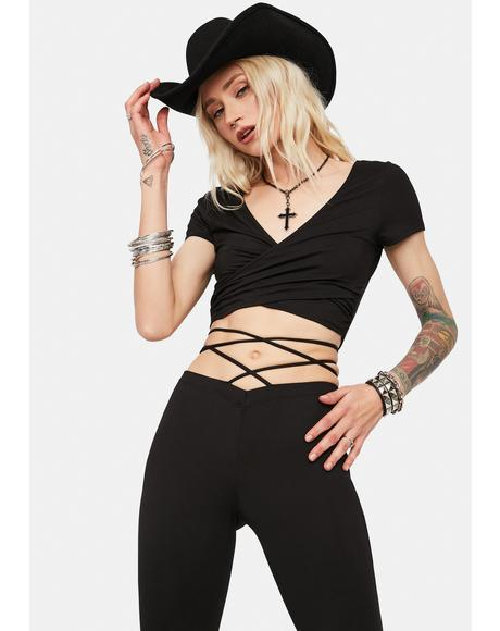 Be Cool Babe Wrap Crop Top & Pants Set
