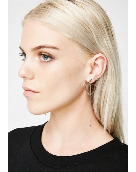 Tuggin' On Your Heartstrings Drop Earrings