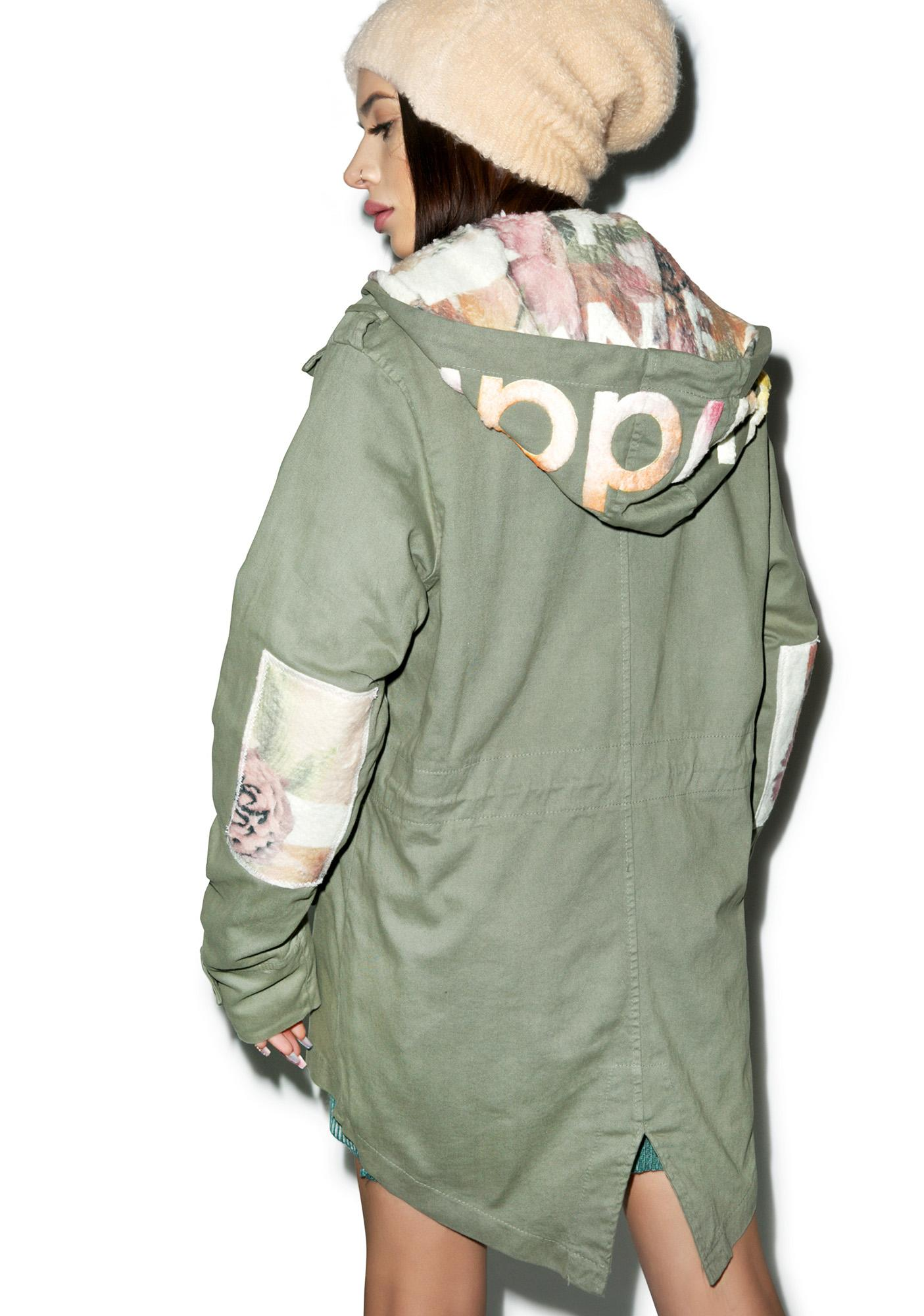 Happiness Floral Parka